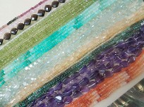 Strands of gorgeous gemstones.