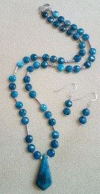 Beautiful duo with sterling, necklace and earrings.
