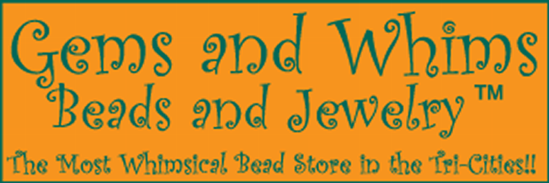 Gems and Whims Beads and Jewelry Company Logo